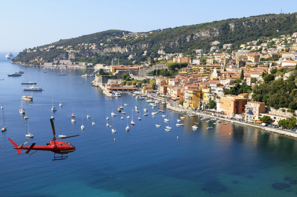Helicopter transfer South of France