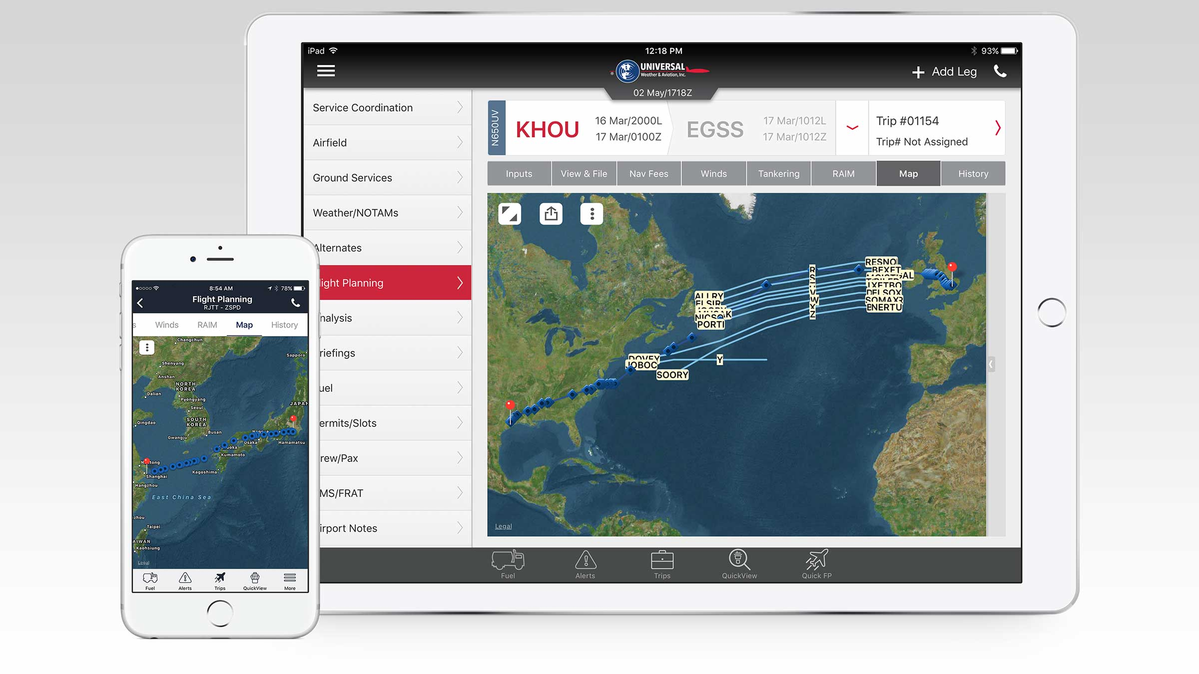 uvGO Mobile App | Mobile Flight Planning | iPhone App | iPad App