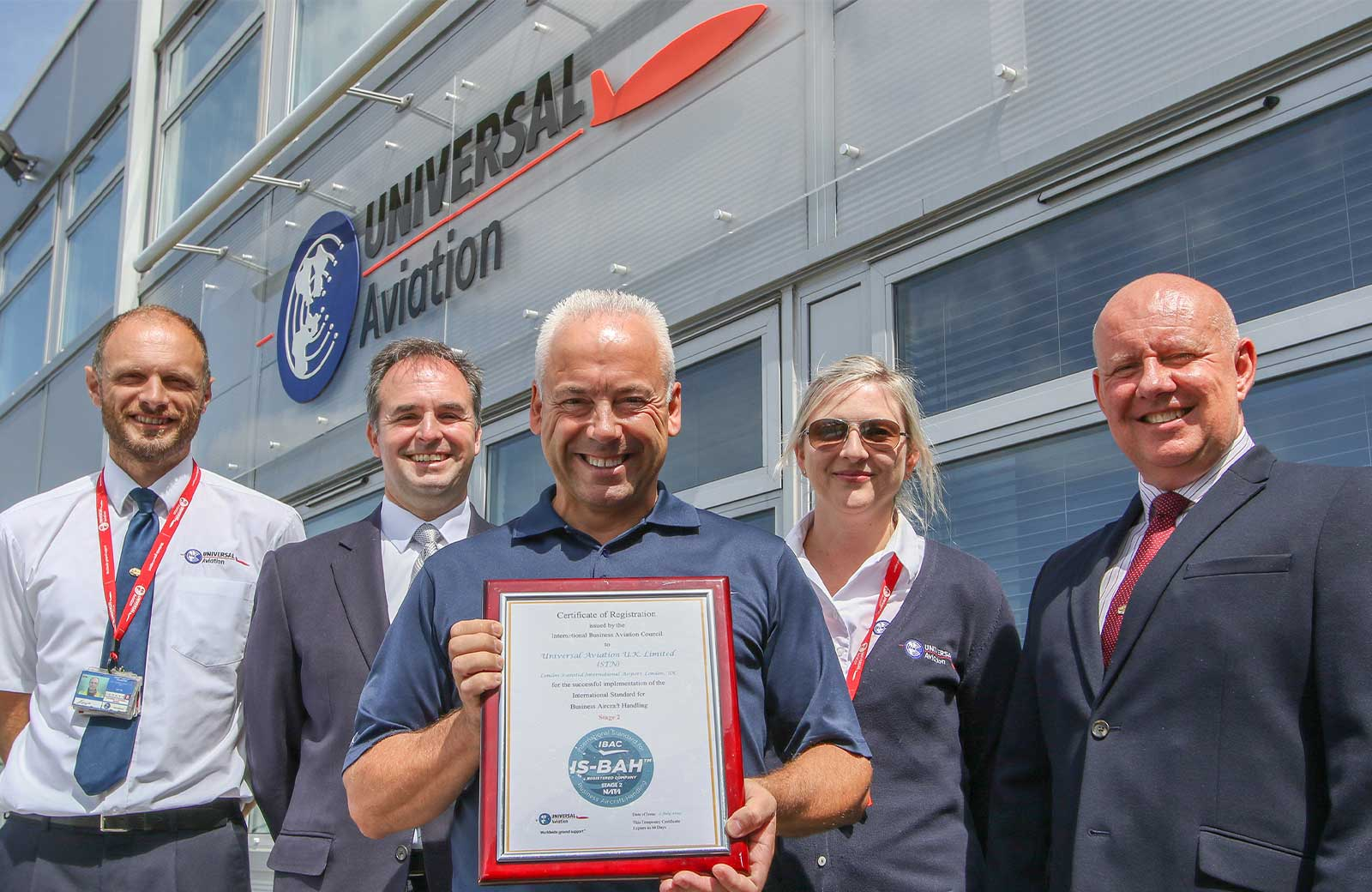Universal Aviation UK, based at London-Stansted International Airport (EGSS) has earned Stage 2 registration under the International Standard for Business Aviation Handling (IS-BAH).